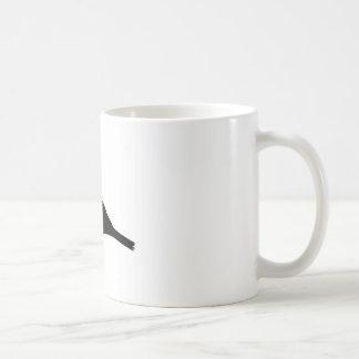 Silhueta do pássaro do passarinho caneca de café