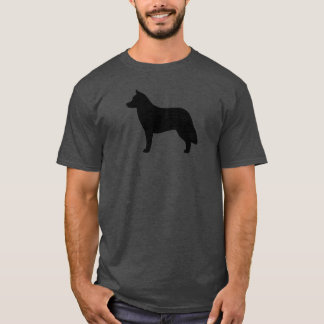 Silhueta do rouco Siberian Camiseta