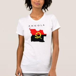 silhueta do símbolo da forma do mapa da bandeira t-shirts