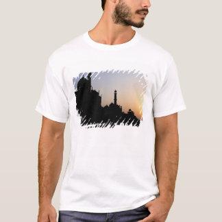 Silhueta do Taj Mahal no por do sol, Agra, Camiseta