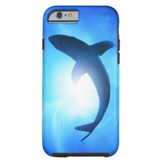 Silhueta do tubarão do oceano profundo capa tough para iPhone 6