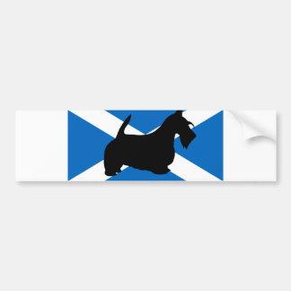 silhueta escocesa Scotland flag.png do terrier Adesivo Para Carro