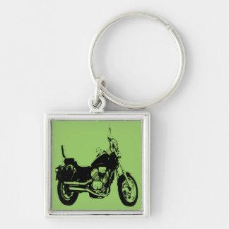 Silhueta legal da bicicleta da motocicleta chaveiro