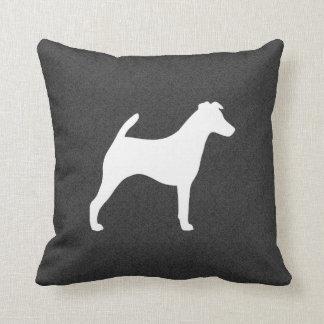 Silhueta lisa do Fox Terrier Almofada