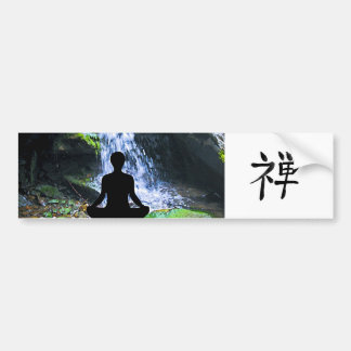 Silhueta Meditating pela cachoeira Adesivos