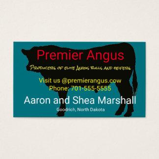 Silhueta personalizada de Angus Bull Cartão De Visitas