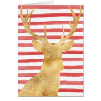 Silhueta principal dos cervos no cartão de Natal
