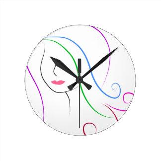 silhueta relógio redondo