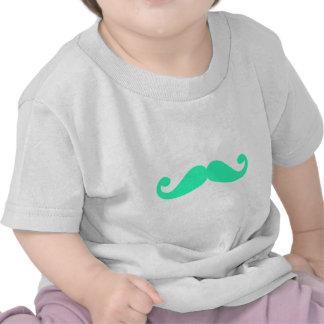 silhueta verde do bigode, design para o tshirt