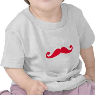 silhueta vermelha do bigode tshirts