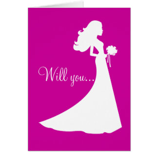 Silhueta você será meu cartão da dama de honra