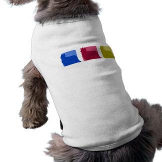 Silhuetas coloridas do yorkshire terrier camisa sem mangas para cachorro