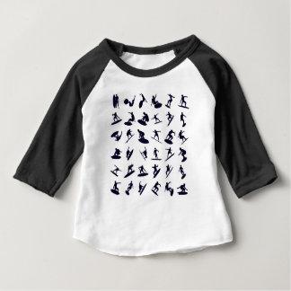 Silhuetas de alta qualidade do surfista camiseta para bebê