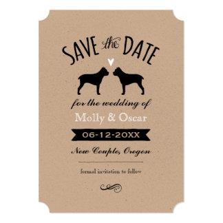 Silhuetas de Corso do bastão que Wedding economias Convite 12.7 X 17.78cm
