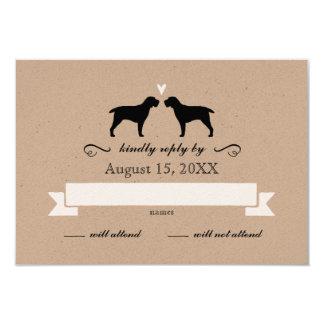 Silhuetas de Spinone Italiano que Wedding a Convite 8.89 X 12.7cm