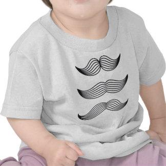 Silhuetas do bigode, linha desenho da arte t-shirt