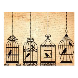 Silhuetas do Birdcage Cartão Postal