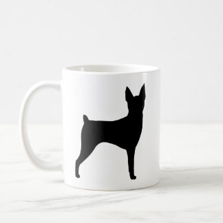 Silhuetas do Fox Terrier do brinquedo Caneca De Café
