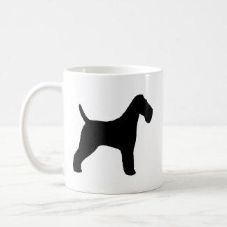 Silhuetas do Fox Terrier do fio Caneca De Café