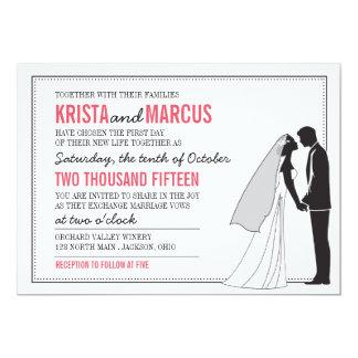 Silhuetas simples que Wedding o convite