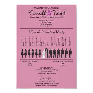 Silhuetas simples que Wedding o programa Convite 12.7 X 17.78cm