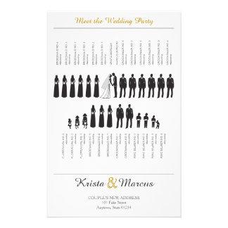 Silhuetas simples que Wedding o programa Flyer