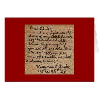Sim, cartão de Natal de Virgínia