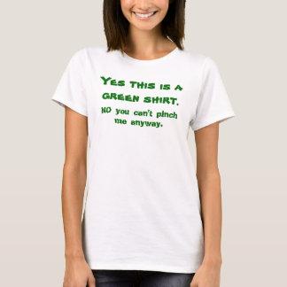 Sim esta é uma camisa verde., NENHUM você não pode