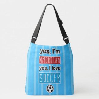 Sim eu amo o futebol por todo o lado no saco do bolsa ajustável