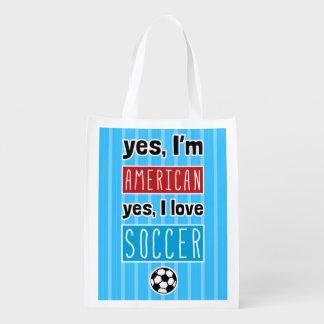 Sim eu amo o saco de compras do futebol sacola ecológica