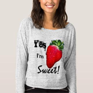 Sim eu sou a camisa das mulheres doces da morango