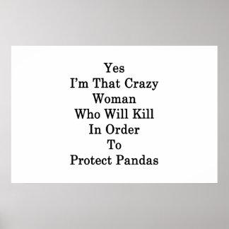 Sim eu sou essa mulher louca que matará pôster