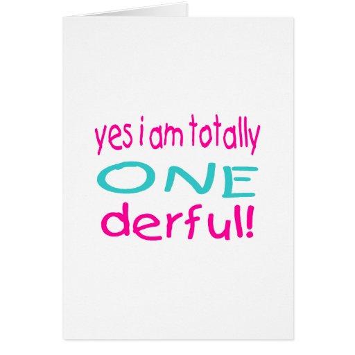 Sim eu sou totalmente um derful (a menina) cartões