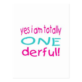 Sim eu sou totalmente um derful (a menina) cartão postal