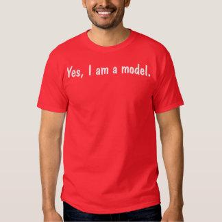 Sim eu sou um modelo t-shirt