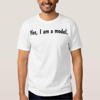 Sim, eu sou um modelo tshirt