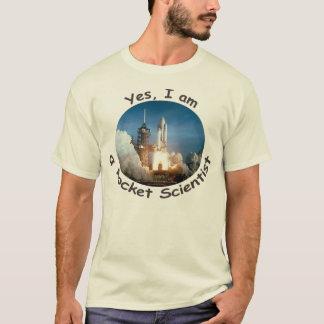 Sim, eu sou um t-shirt do cientista de Rocket Camiseta