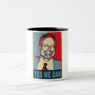 Sim nós Dan Caneca De Café Em Dois Tons