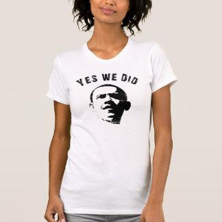 Sim nós fizemos a camisa da colher T das mulheres