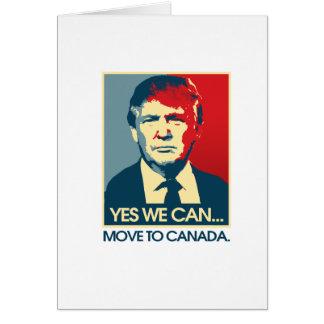 Sim nós podemos transportar-se a Canadá -- Cartão