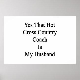 Sim que o treinador quente do país transversal é poster