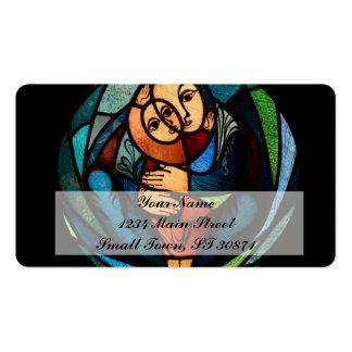 Simbol colorido de MADONNA E da CRIANÇA Cartão De Visita