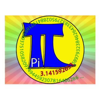 Símbolo 3,14 do Pi final Cartão Postal