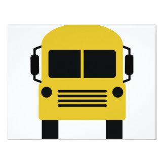 símbolo amarelo do auto escolar convite 10.79 x 13.97cm