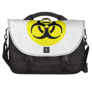 Símbolo amarelo do BioHazard Bolsas Para Computadores Portáteis