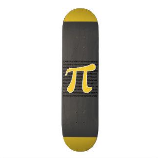Símbolo amarelo do Pi do âmbar Skate