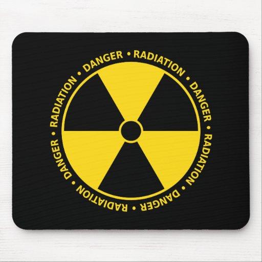 Símbolo amarelo Mousepad da radiação
