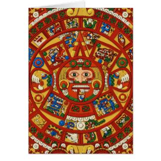Símbolo asteca do Maya maia - cartão customizável!