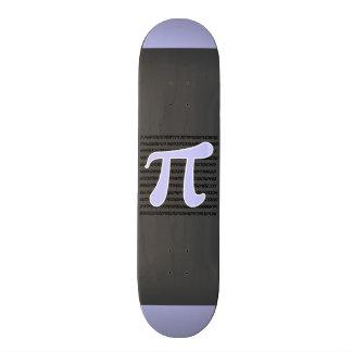Símbolo azul do Pi da lavanda Shape De Skate 18,1cm