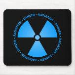 Símbolo azul Mousepad da radiação